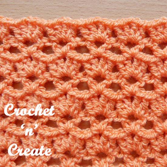 crochet V & Shell stitch
