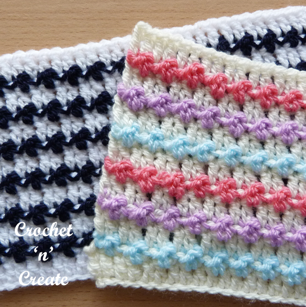 free knobbly stitch tutorial