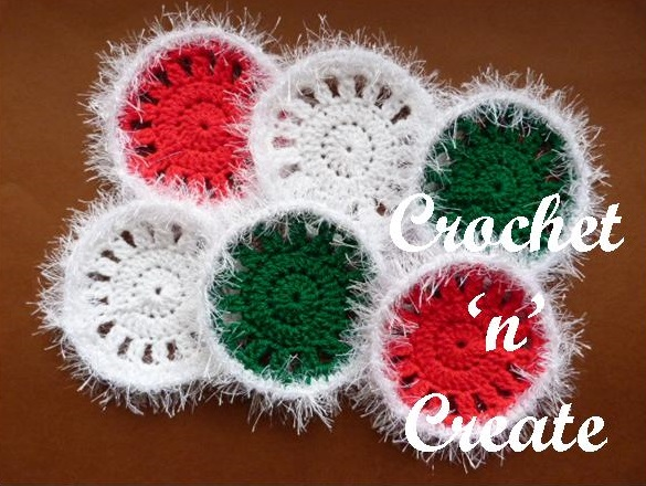 Christmas Crochet Coasters Free Pattern Crochet N Create