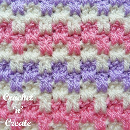 crochet interlocking block stitch