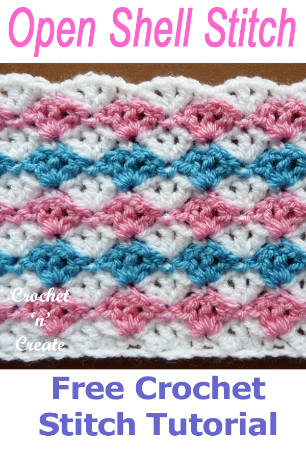 Open Shell Crochet Stitch - Free Crochet Tutorial on Crochet