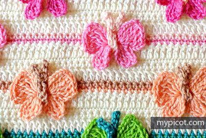 butterfly crochet stitch