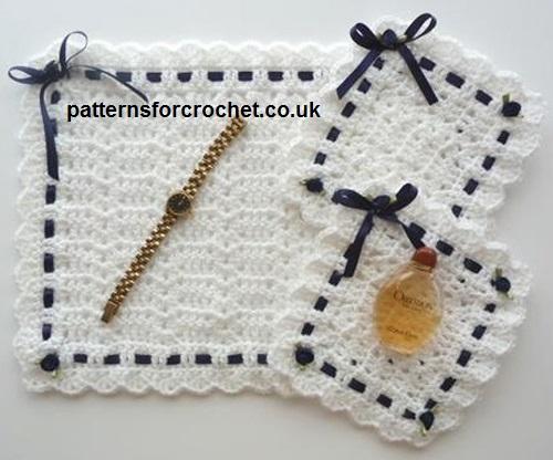 Free Crochet Dressing Table Mat Set Crochet N Create