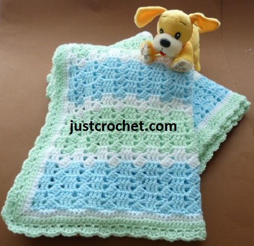 Free Pastels Baby Blanket Crochet Pattern Crochet N Create