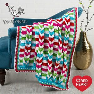 braided stripe blanket