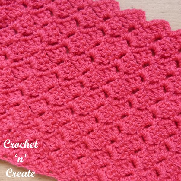 slanted crochet hatch