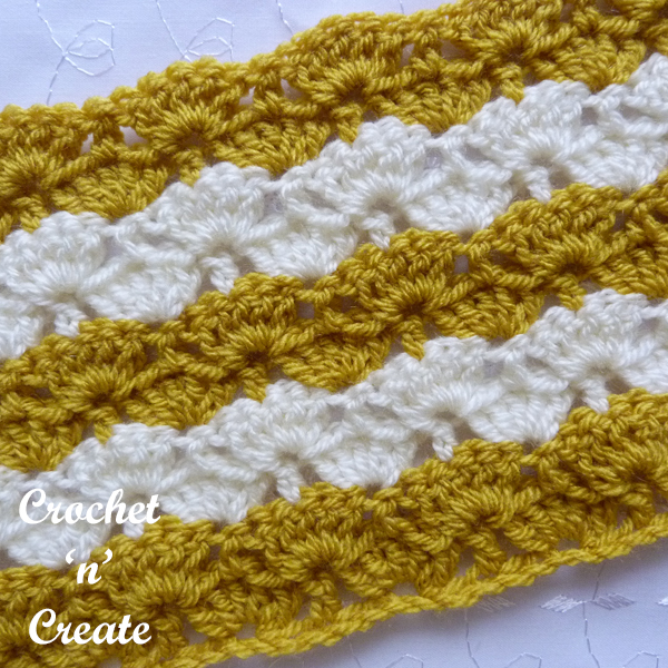 crochet stems and groups stitch