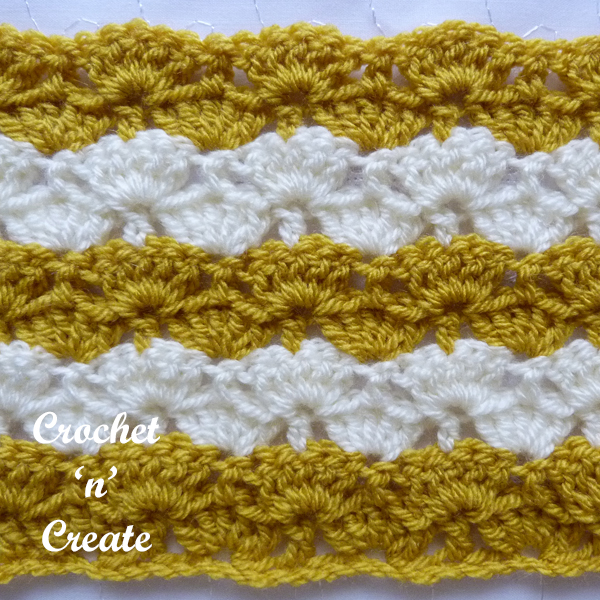crochet stems and groups