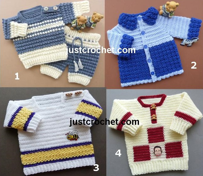 Boys Sweaters Free Baby Crochet Patterns Crochet N Create