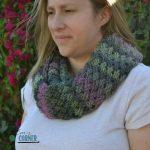 diagonal weave scarf