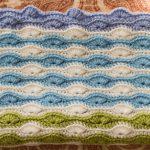 scrappy shell blanket
