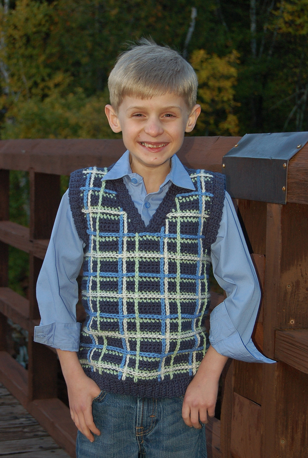 boys vest sweater