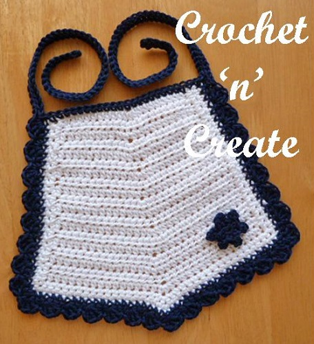 Cotton Bib Free Crochet Pattern Crochet N Create