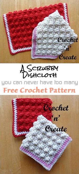 scrubby dishcloth-link