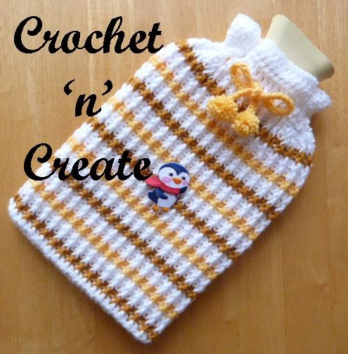 crochet stripey cozy