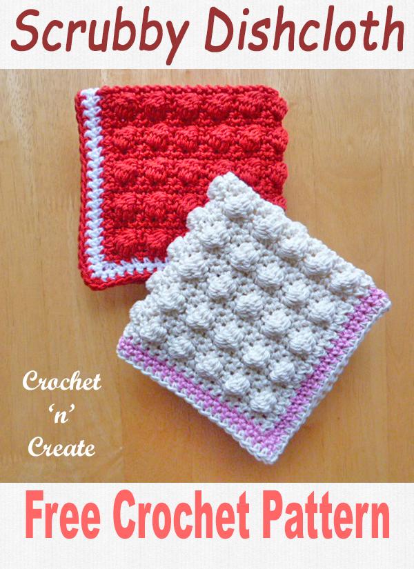 scrubby dishcloth free crochet pattern