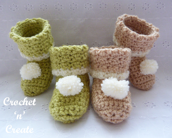 free booties pattern-600a