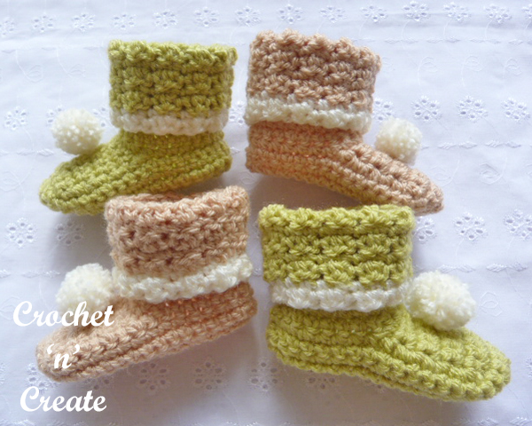 woodland newborn booties
