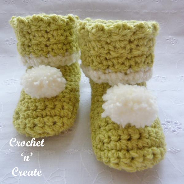 crochet woodland booties-600e