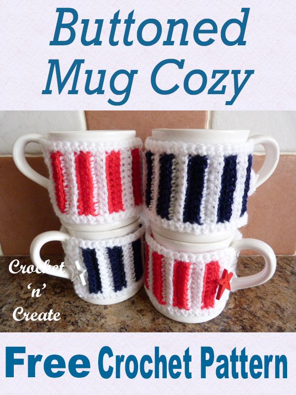 buttoned mug cozy