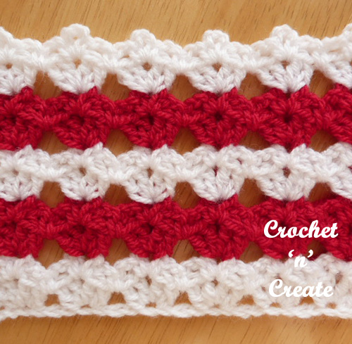 all over shell stitch