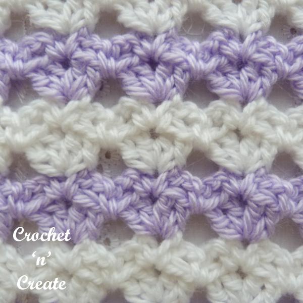 lilac & white stitch