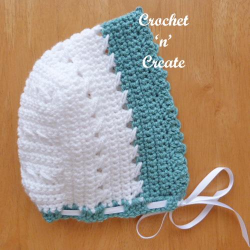 criss cross bonnet free baby crochet pattern