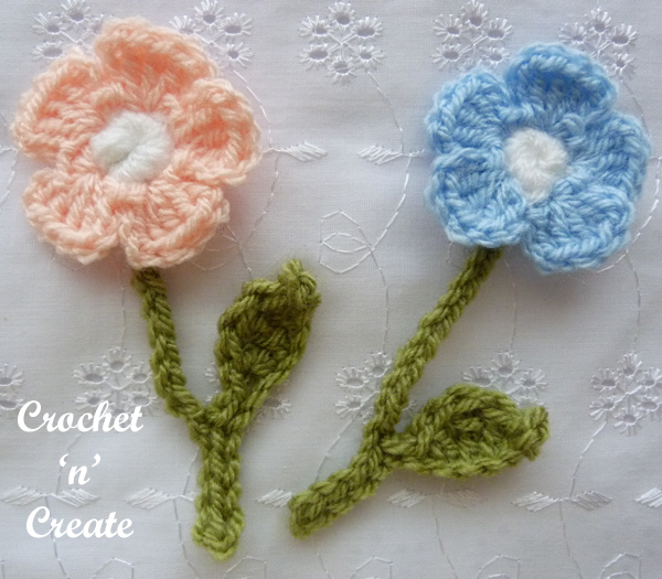 free crochet flowers