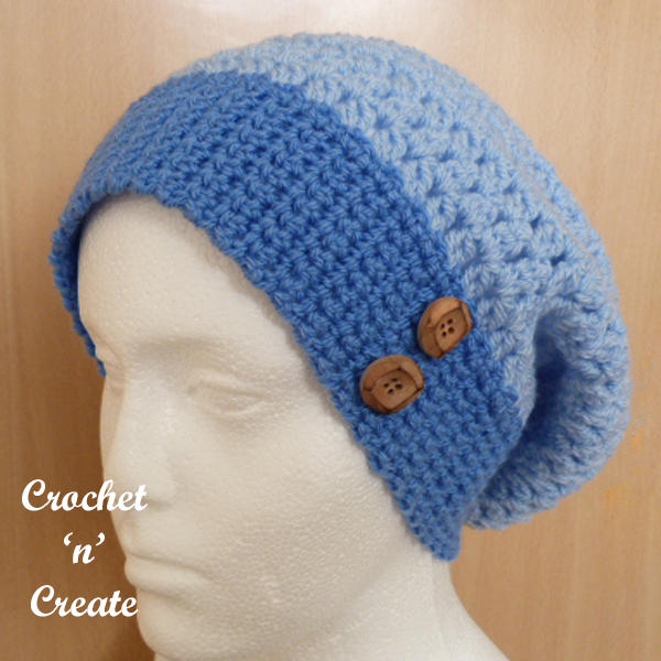 blue slouchy
