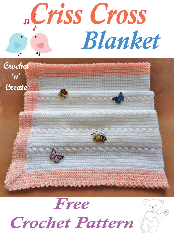 crisscross baby blanket