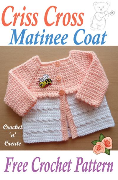 criss cross matinee coat