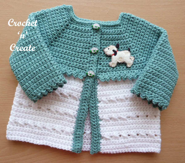 crochet matinee coat