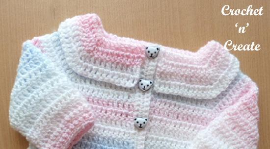 easy peasy baby cardigan Collar