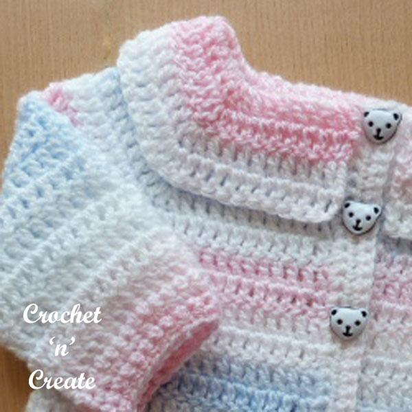 free crochet easy peasy baby cardigan-b