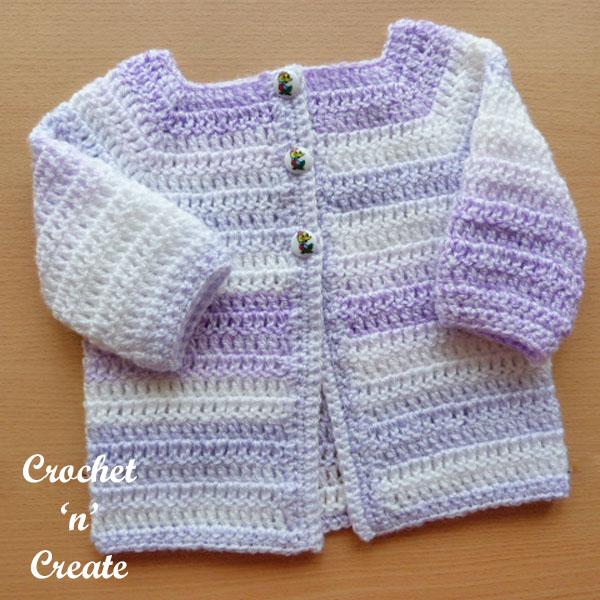 crochet easy peasy baby cardigan600c