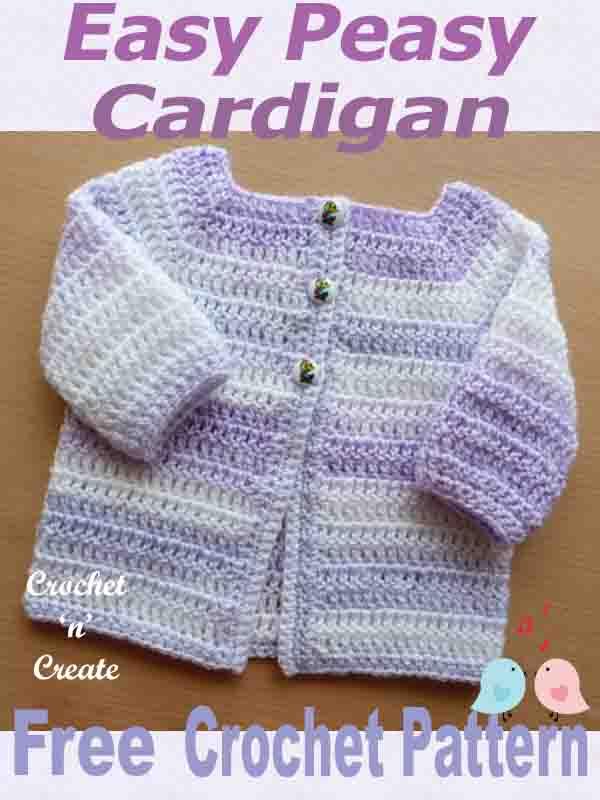 easy peasy baby cardigan