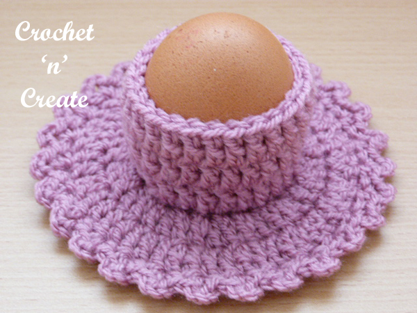 free crochet eggcup