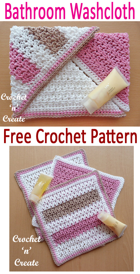 bathroom washcloth free crochet pattern