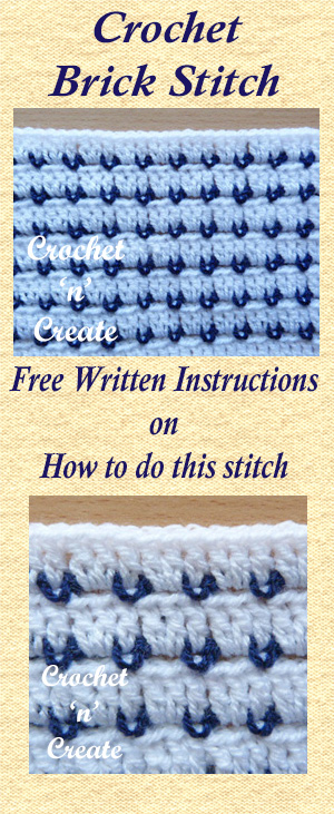 crochet brick stitch