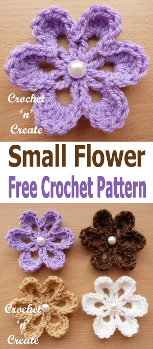 crochet small flower