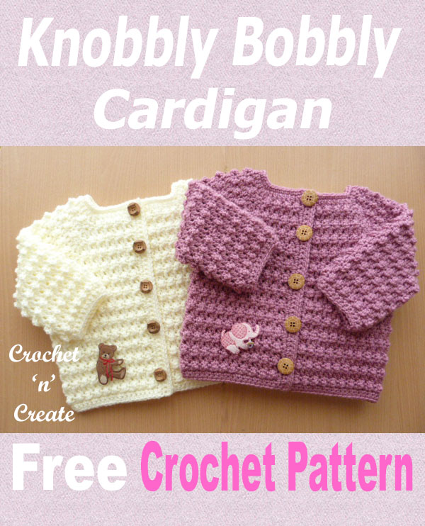 Knobbly bobbly cardi free crochet pattern