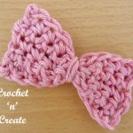 Free small bow crochet pattern
