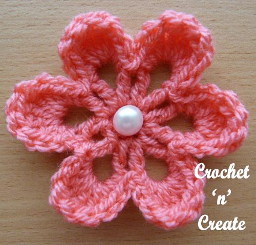 small flower applique blush