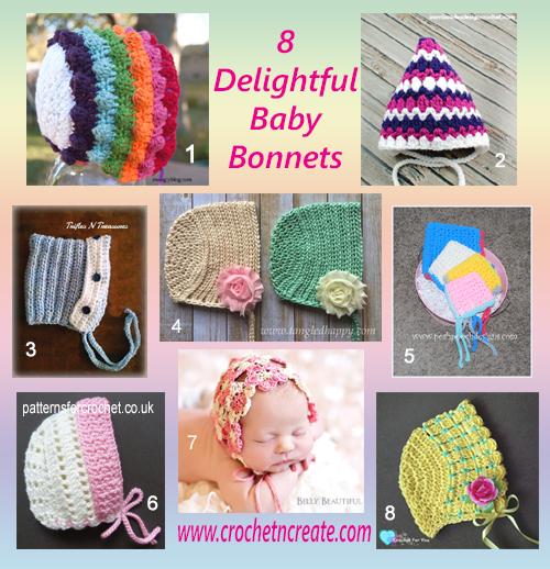 baby bonnet round