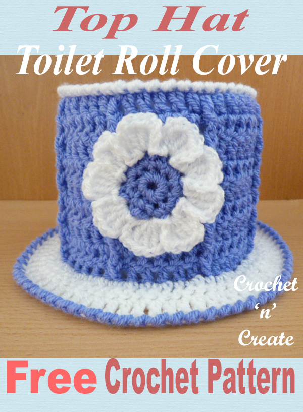 top hat tp cover free crochet pattern