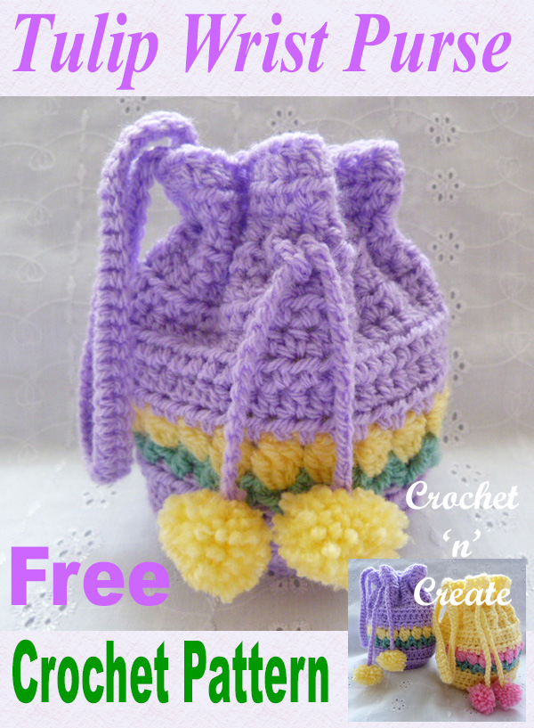 tulip wrist purse free crochet pattern