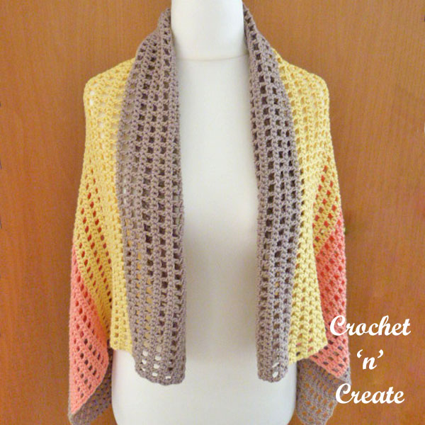 Crochet cotton wrap