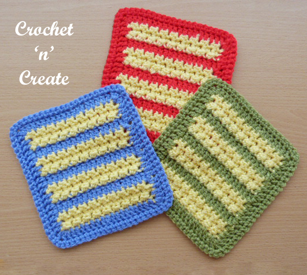 crochet afghan motif