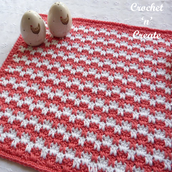 free crochet placemat