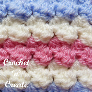 3 colour coaster free crochet pattern